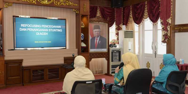 PKK Aceh Dorong Gampong Siaga Covid-19 untuk Cegah Corona Sekaligus Stunting