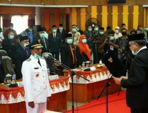 Plt Gubernur Aceh Lantik Bupati Aceh Selatan dan Diminta Perkuat Ketahanan Pangan di Masa Covid-19