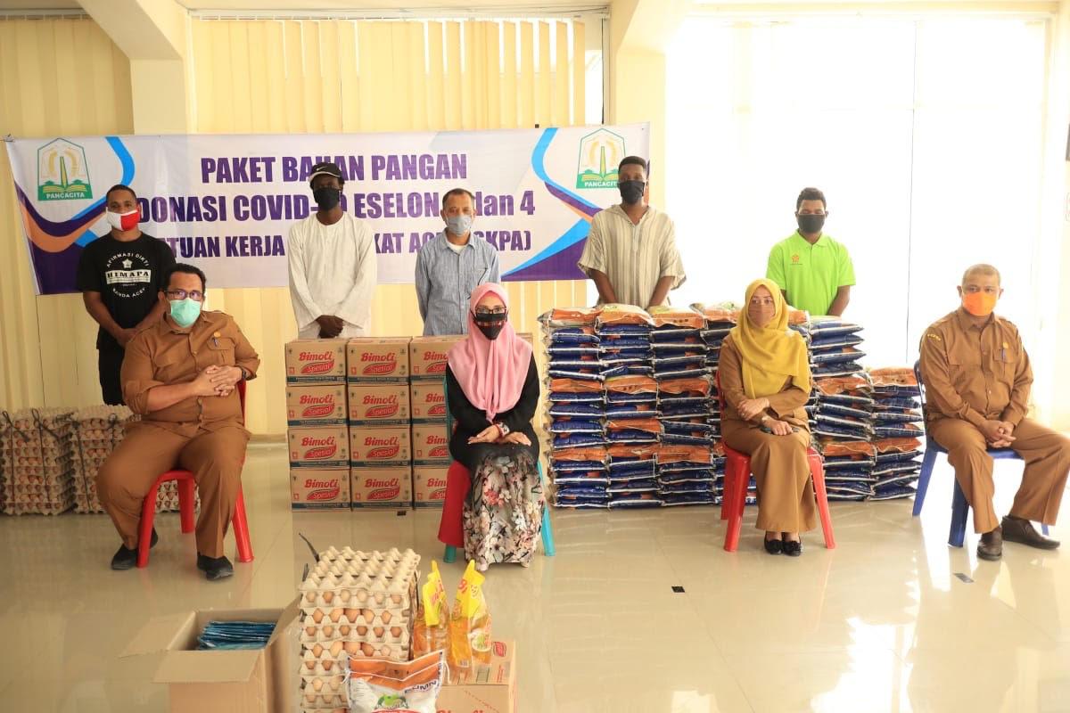 Mahasiswa di Asrama Unsyiah dapat Bantuan dari Tim Penangganan Covid 19 Aceh