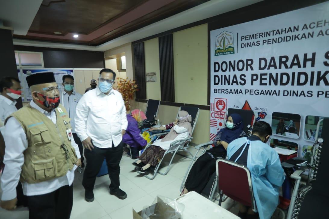 Keluarga Besar Dinas Pendidikan se-Aceh Kumpulkan 362 Kantong Darah