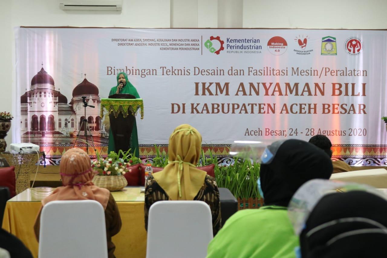 15 Peserta IKM Anyaman Bili Aceh Besar Dapat Bimbingan Teknis Dari Kemenperin RI
