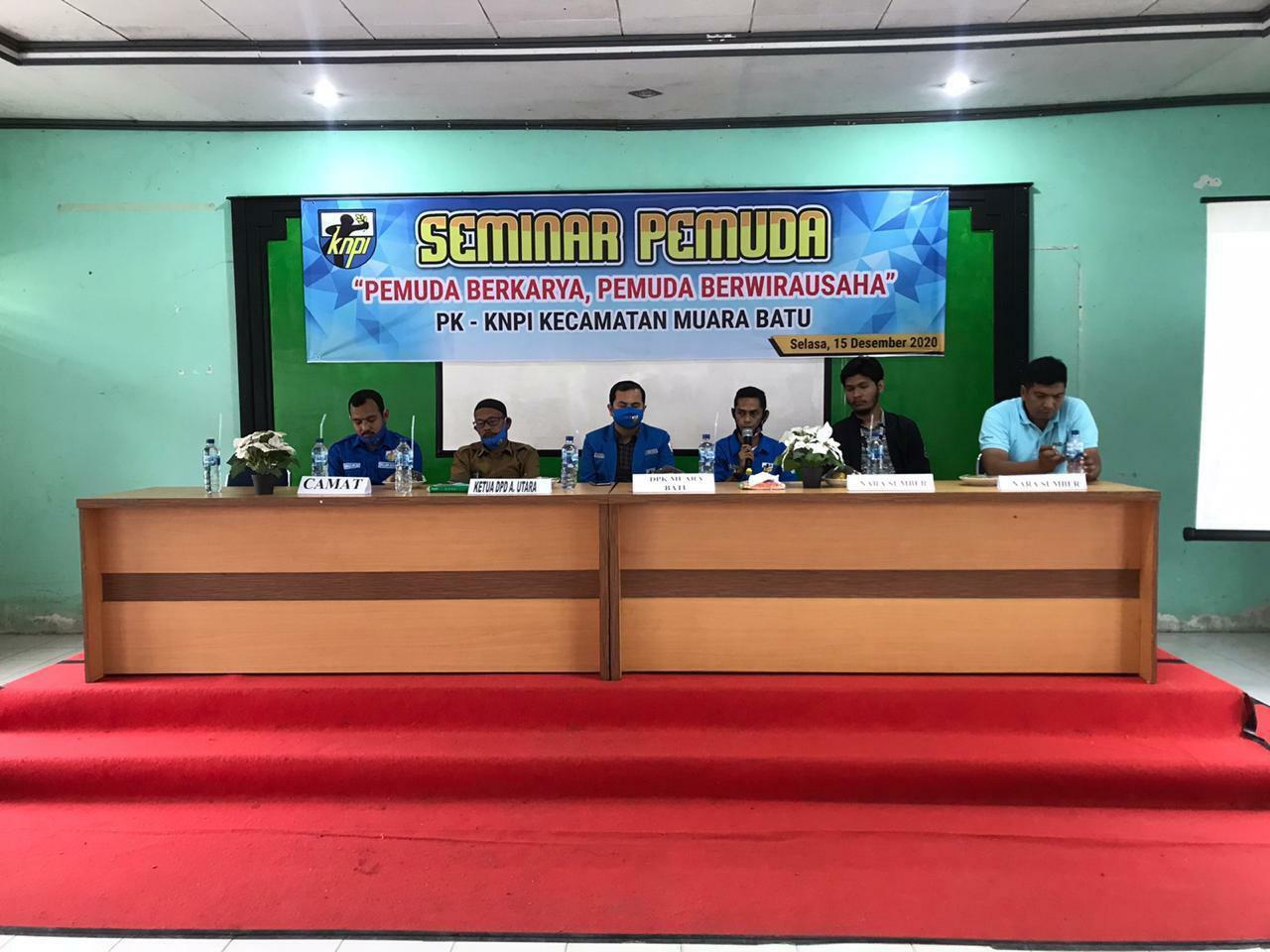 KNPI Muara Batu Selenggrakan Seminar Kepemudaan